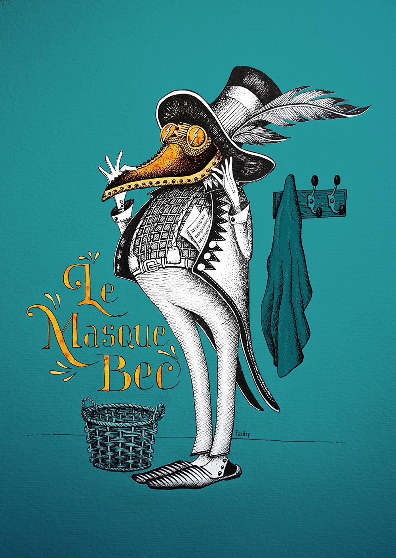 Illustration : Le masque Bec by Waostudio