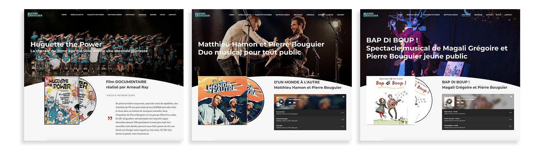 Pages albums site pierre bouguier